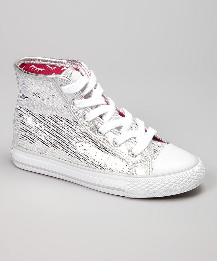 Silver Hi-Disco Hi-Top Sneaker//