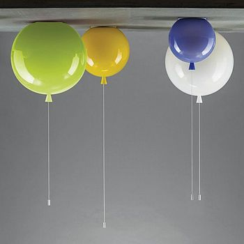 (From Left) Green, Yellow, White Opal, Blue... Another quirky lighting selection?