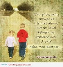 """Personally _ Yeah, THAT Side of Me :)  _ brother _ """"Our paths may change as life goes along, but the bond between us remains ever strong. I miss you brother."""""""