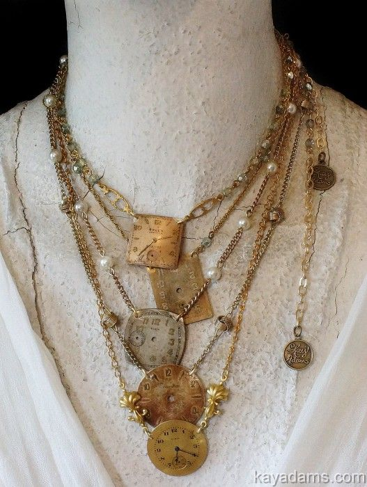 Time stops... vintage redo necklace by Kay Adams