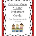 "I made these Common Core ""I Can"" cards to use in my first grade classroom. While I post objectives that are easily understood by administrators or ..."