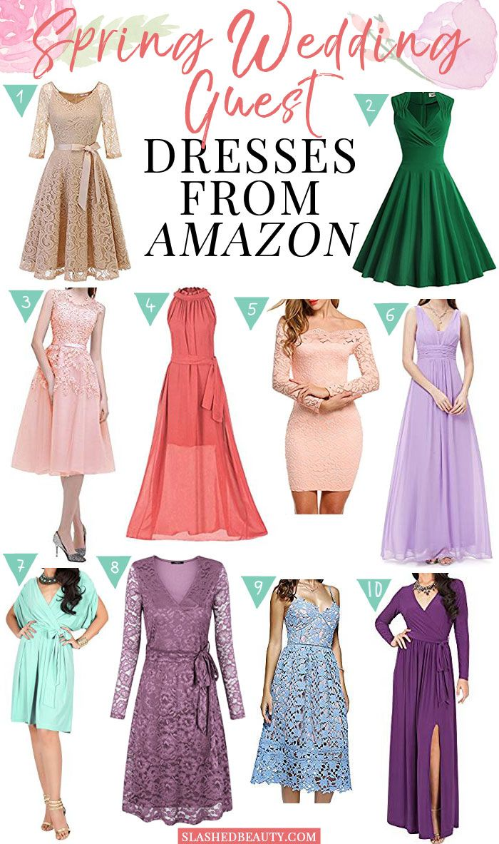 Guest of wedding dresses spring   Spring Wedding Guest Dresses from Amazon  WEDDING  Wedding