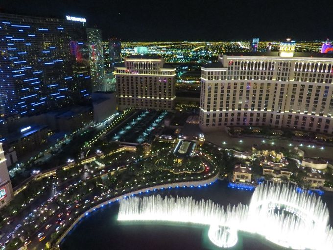 View from the Eiffel Tower in Las Vegas