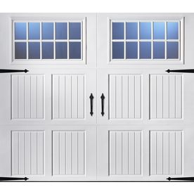ReliaBilt�8-ft x 7-ft Carriage House Insulated White Garage Door with Windows