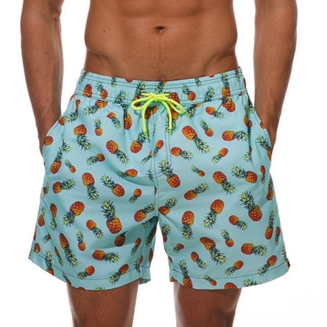 Men's Shorts Hawaiian Flower Print Bermuda Boardshorts Casual Shorts Beach Hombre Clothing Masculino Joggers Bodybuilding Male