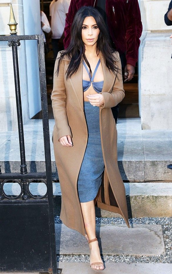 Naturally: Kim Kardashian's New Wax Figure Is Taking a Selfie via @WhoWhatWear