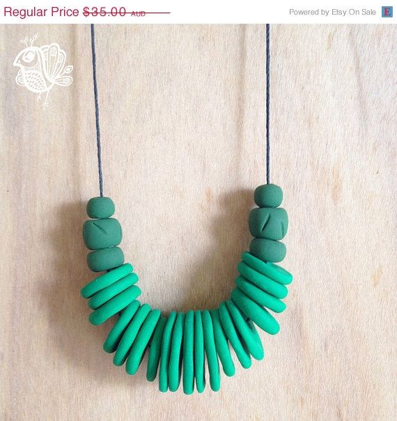 BOXING DAY SALE Handmade Polymer Clay Necklace - Grandmother - Cecile by ThatWeDo on Etsy https://www.etsy.com/listing/216229387/boxing-day-sale-handmade-polymer-clay