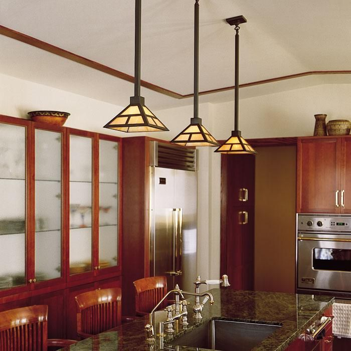 low voltage interior lighting kits%0A Prairie Style Kitchen Lit with Three Pendant Lights