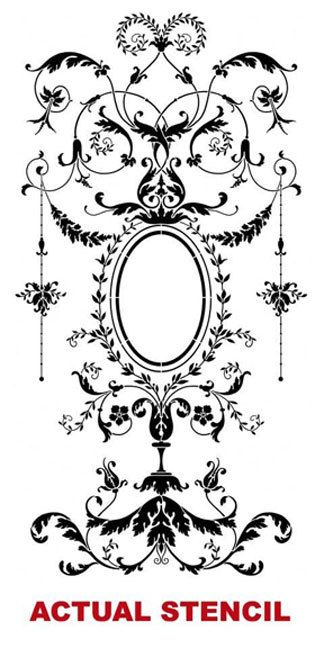 Wall stencil Versailles Grand Panel LG by CuttingEdgeStencils