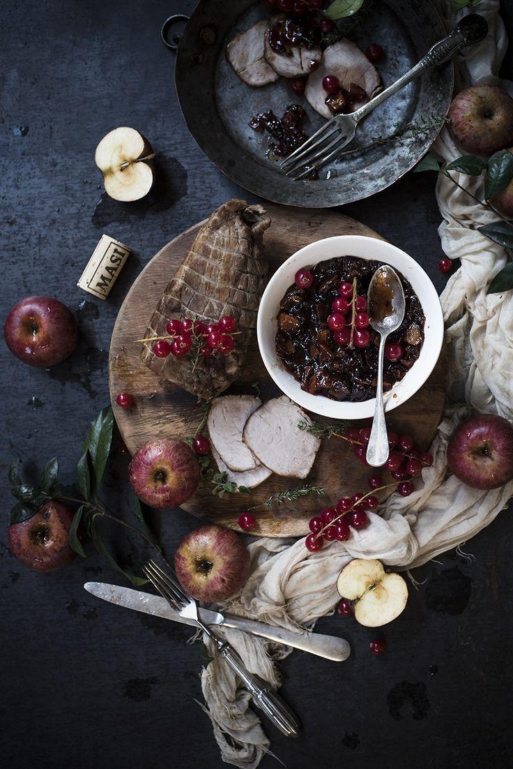 arrosto di maiale con ribes e mele