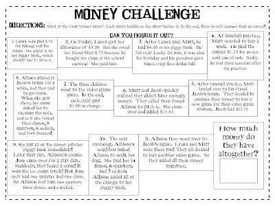 Second Grade Sparkle: Money Challenge/Extension for ...