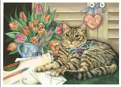 Кошки и собаки от Донны Рейс | Кошки, Художники, Собаки