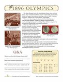Get geared up for the Olympics with this fun reading worksheet about the first modern Olympic games, held in -- where else? -- Greece in 189...