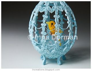 quilled egg http://increations.blogspot.com/2014/04/birdcage-easter-egg-quilling.html