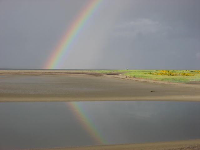 A beautiful rainbow over Willapa Bay.