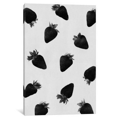 East Urban Home 'Black Strawberries' Graphic Art Print on Canvas