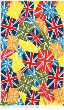 British Multicoloured Union Jack Tea Towel