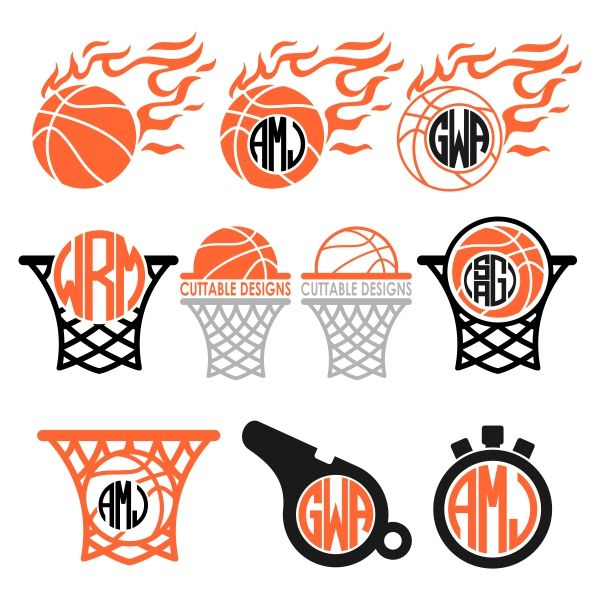 Basketball Svg Cuttable Designs Silhouette Cameo Projects Ideas