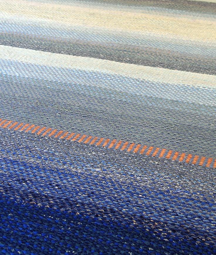 Handwoven rug by Nedra Granquist photo by Aimee Radman