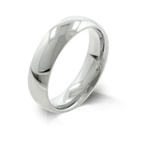 Stainless Steel Classic High Polished Comfort Fit Wedding Band Ring 5mm