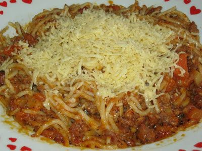 moje záľuby...: Boloňské špagety