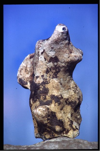 Flint figurine, as found. SF 61. British Neolithic/Early Bronze Age. 5500-4000 years old.