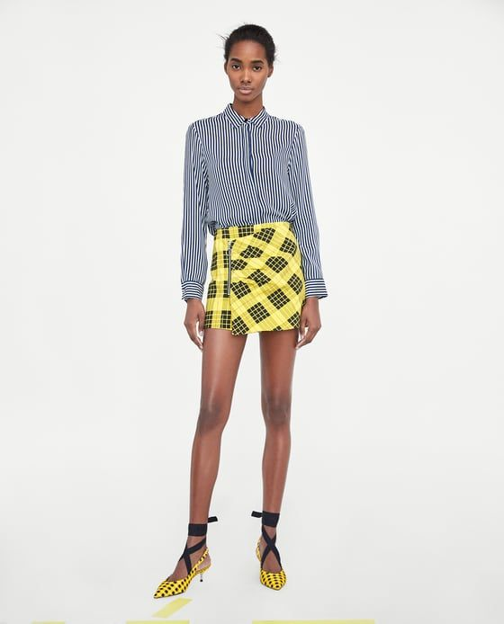 ZARA - WOMAN - CHECK SKORT