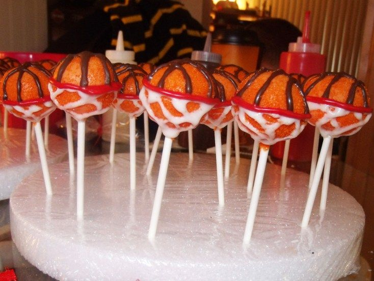 Basketball Cake Pops ~ Nothing but Net! | craftycreativekathy