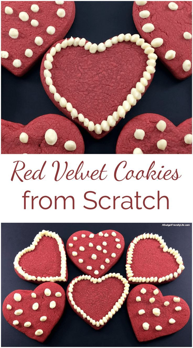 These Red Velvet Cookies from Scratch have a crispy bite with a hint of cocoa flavor. The buttermilk and cream cheese icing provide just a bit of tanginess.