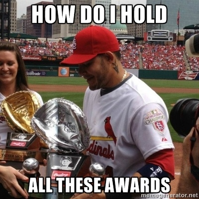 It's good to be Yadi