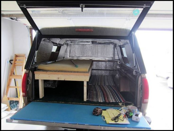 Insulated Truck Bed Reflectix Camper Shells Truck Bed