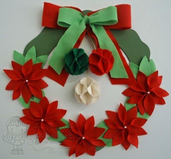 Eu Amo Artesanato: Guirlanda de Natal