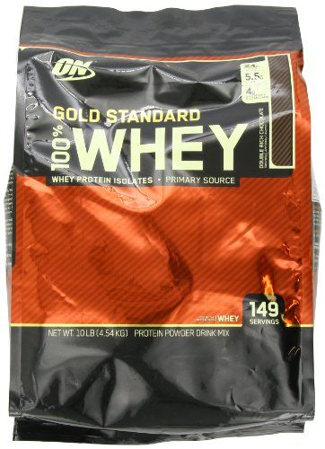 Optimum Nutrition 100% Whey Gold Standard, Double Rich Chocolate, 10 Pounds Bags, Packaging May Vary | Multicityhealth.com List Price: $153.85 Discount: $59.85 Sale Price: $94.00