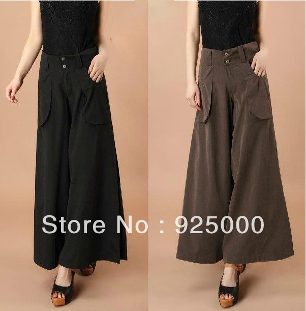 2013 spring and summer Career casual loose pants plus size  trousers wide leg pants Palazzo high waist pant fashion culottes-inPants & Capri...