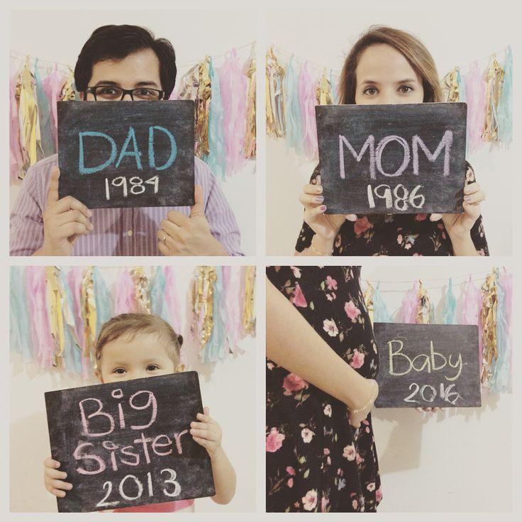 Second baby announcement photo / big sister / baby on the way