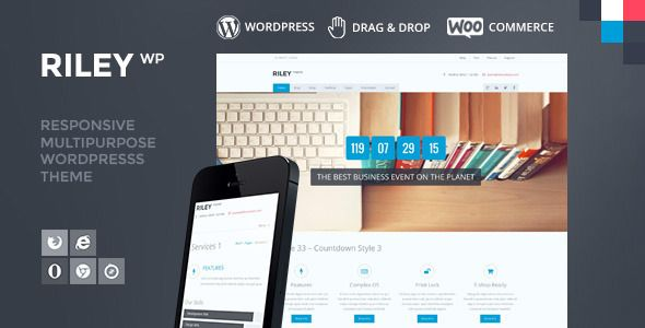 wpthemeclub: RILEY - Responsive MultiPurpose WordPress Theme