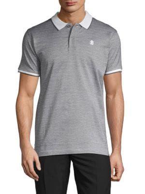 e4249f89 ROBERTO CAVALLI Printed Short-Sleeve Cotton Polo. #robertocavalli #cloth  Contrast Collar,