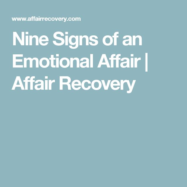 Nine Signs of an Emotional Affair | Affair Recovery …                                                                                                                                                     More