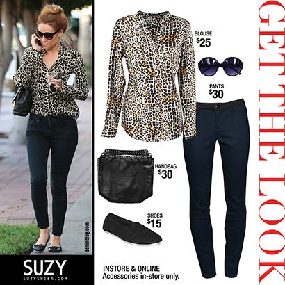 LADIES! Today's Get the Look was inspired by the ever stylish Lauren Conrad. Animal print is still a huge trend coming into Fall. We love this look! Casual yet stylish! Get this similar look at  Suzy Shier!