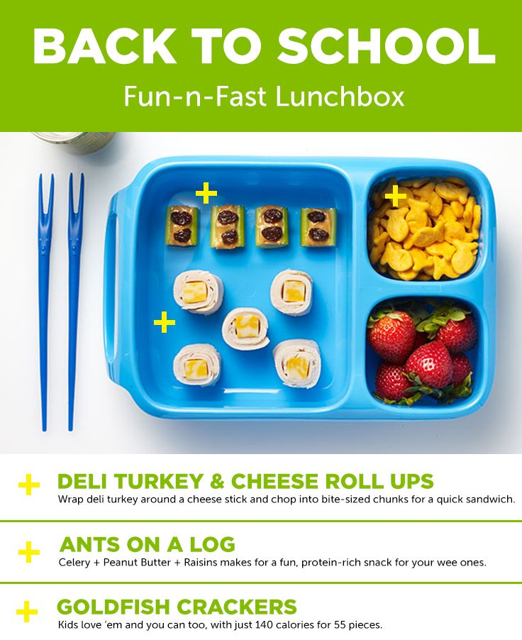 Fun-N-Fast Lunchbox! Kids will love this cute and quirky lunchbox, featuring inside-out sandwhich rolls and a playful snack.