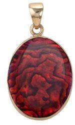 Alchemia Red Abalone Pendant