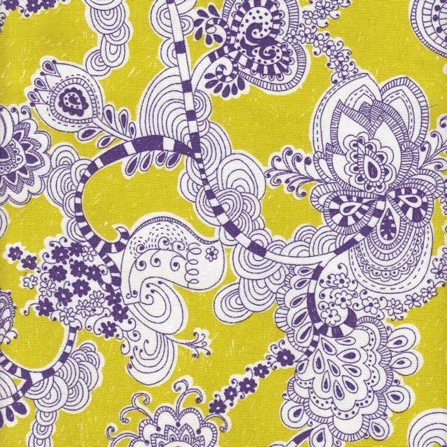 Distinctive Sewing Supplies - Japanese Cotton/Linen Print Canvas Daisy Chain Hearts