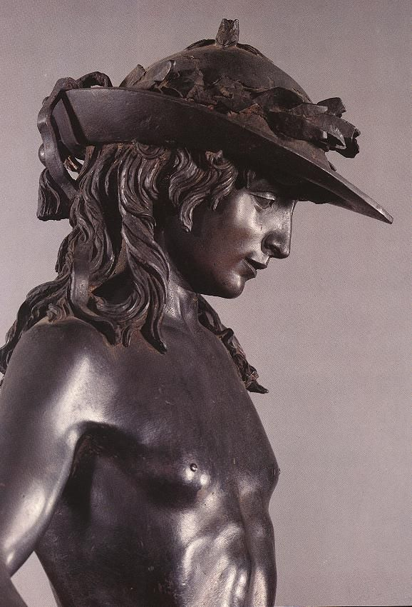 Musée National du Bargello, Florence  Donatello David 1430-1432,détails