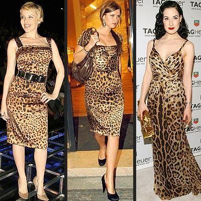Платье из леопардовой расцветки ткани