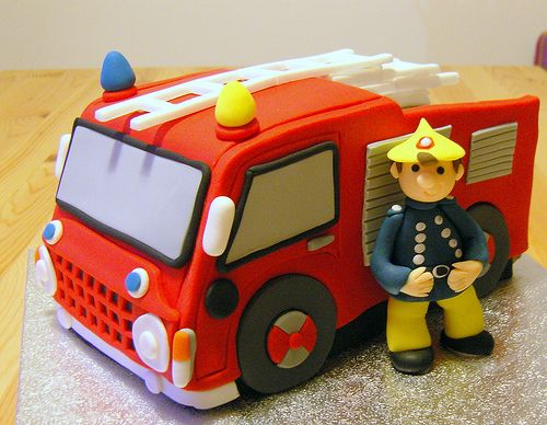Fireman Sam cake by deborah hwang, via Flickr