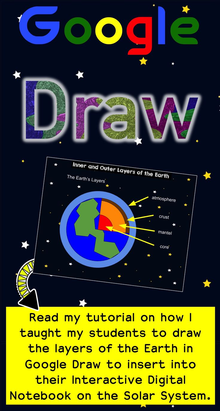 Why have your students just search for an image to insert? Have them draw it with Google Draw. In this tutorial, I give step-by-step instructions draw the layers of the earth diagram you see in the picture. Come try it out!