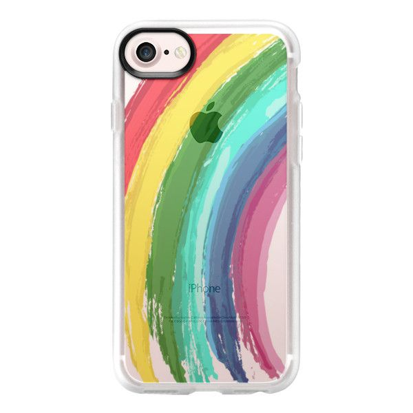 Rainbow Pride - iPhone 7 Case And Cover (140 ILS) ❤ liked on Polyvore featuring accessories, tech accessories, phone cases, phone, cases, phonecases, iphone case, clear iphone case, iphone cases and apple iphone case
