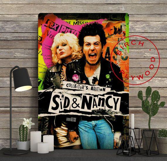 SID AND NANCY Poster on Wood Gary Oldman Chloe by InHousePrinting
