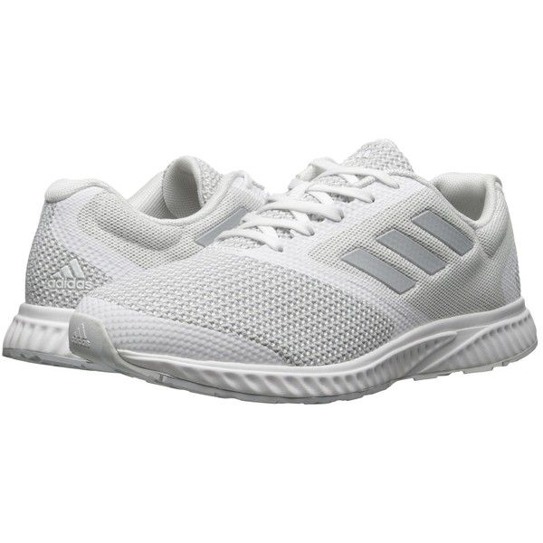 adidas Running Mana Racer (White/Clear Grey/White) Men's Running Shoes (250 BRL) ❤ liked on Polyvore featuring men's fashion, men's shoes, men's athletic shoes, mens athletic shoes, mens lightweight running shoes, mens lace up shoes, mens white shoes and mens running shoes