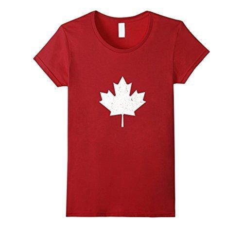 Women's Canada Maple Leaf Vintage T-Shirt Canada Day T-Shirt XL Cranberry